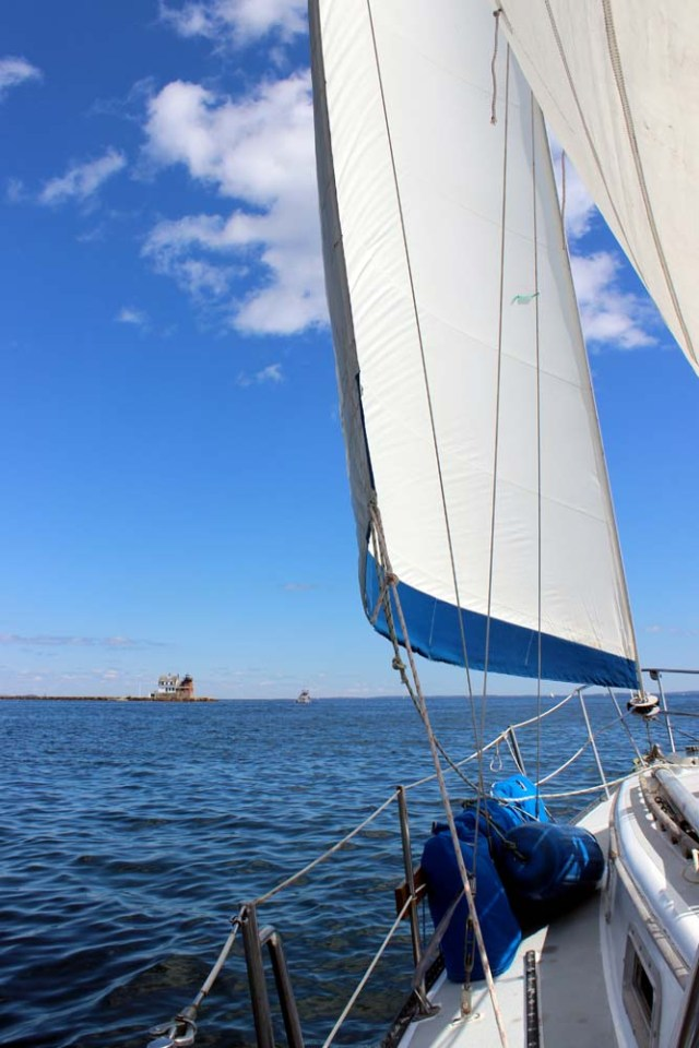 Sailing out of Rockland, Maine
