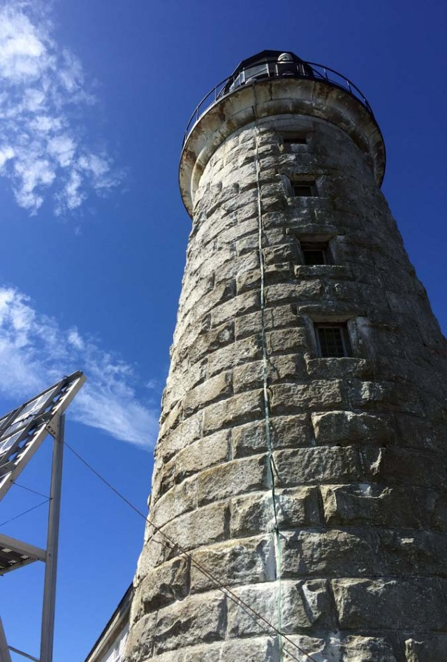Halfway Rock Lighthouse - the tower