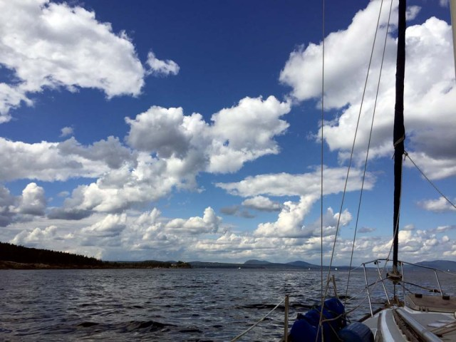 Approaching Rockland, Maine