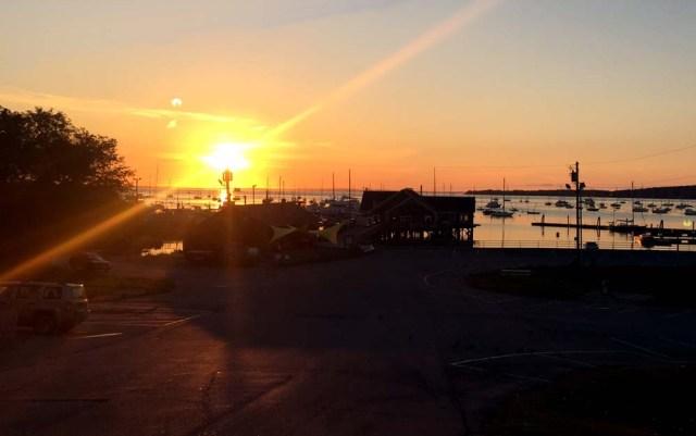 Sunrise in Rockland, Maine