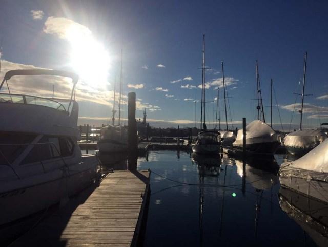 DiMillo's marina in the winter