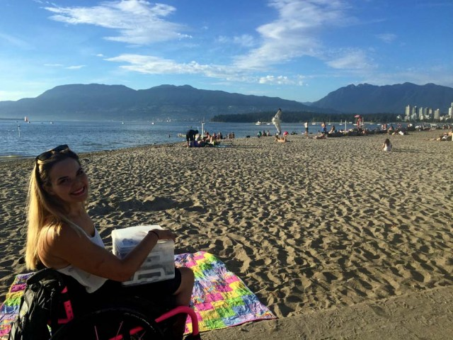 Beaching in Kits with Jess