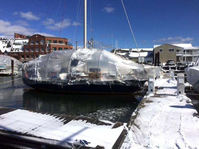 Winter liveaboard - day after the blizzard