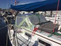Patterning a sailboat dodger