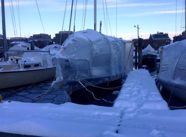 Maine Liveaboard Life in the Winter - DiMillos Marina - Portland, Maine
