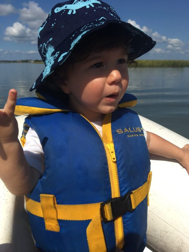 Sailboat life in a dinghy with a toddler