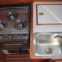 4 Galley Fridge and Sink