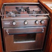 4 Galley Stove 3 Burner and Oven