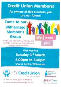 Credit Union Members Meeting 3rd March 2020