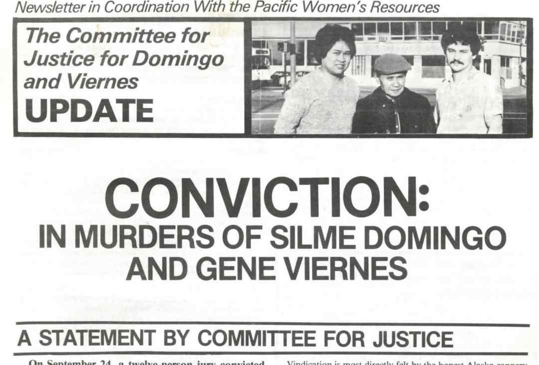 Protest march after the murders of Gene Viernes and Silme Domingo, two Seattle Filipino Labor Actvists.