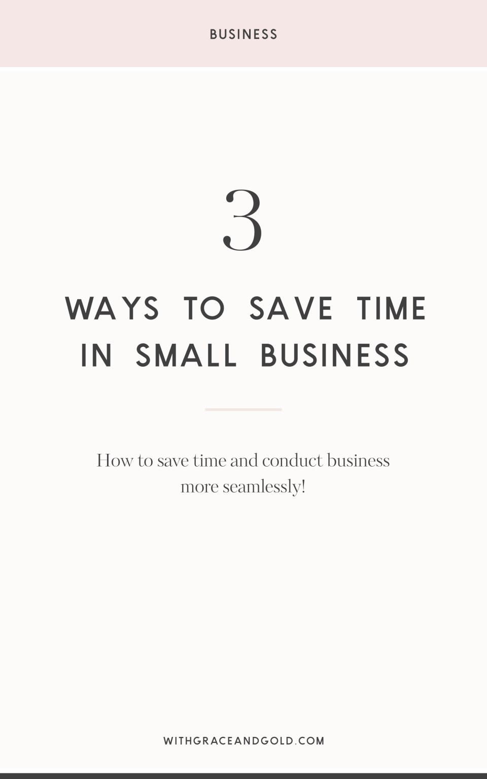 3 Ways to Save Time in Small Business