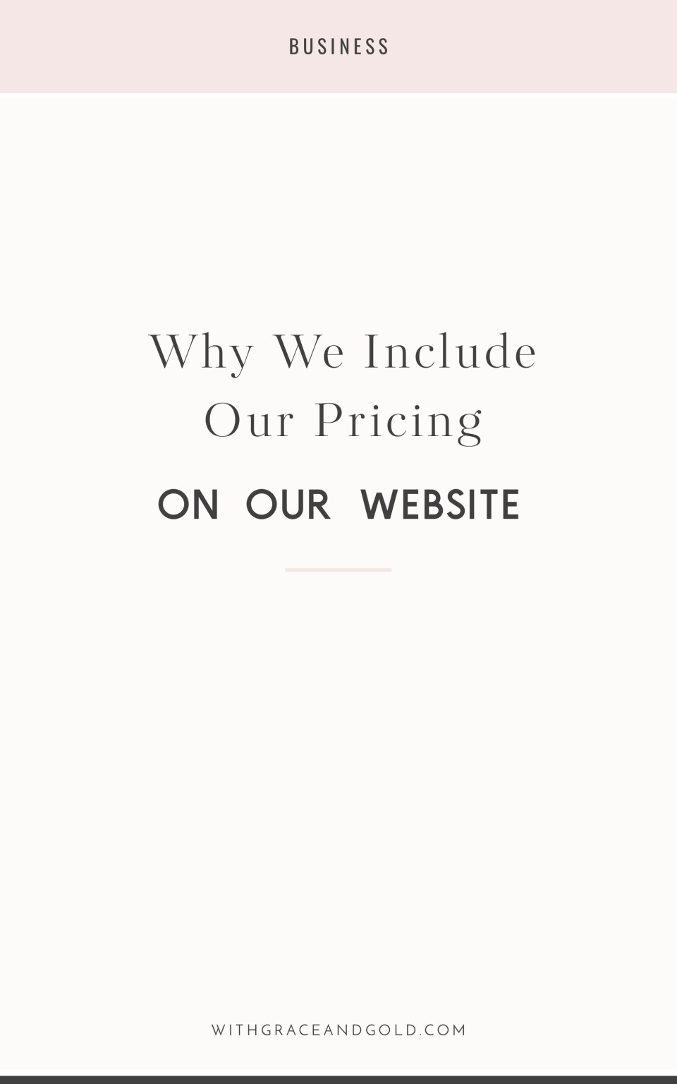 Why We Include Our Pricing on Our Website
