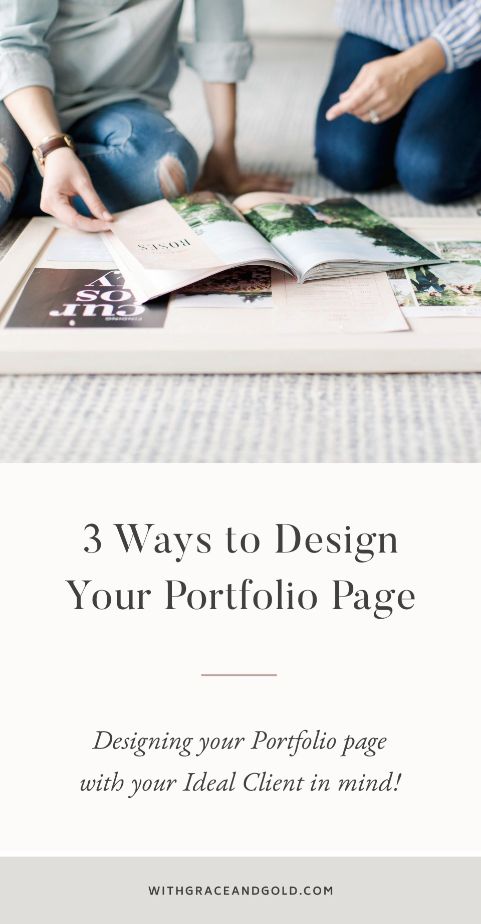 With Grace and Gold - Portfolio Page - Showit Designer, Designers, Design, Designs, Template, Templates, Theme, Themes - Branding and Web Design Website Design for Creative Women in Business - Photo