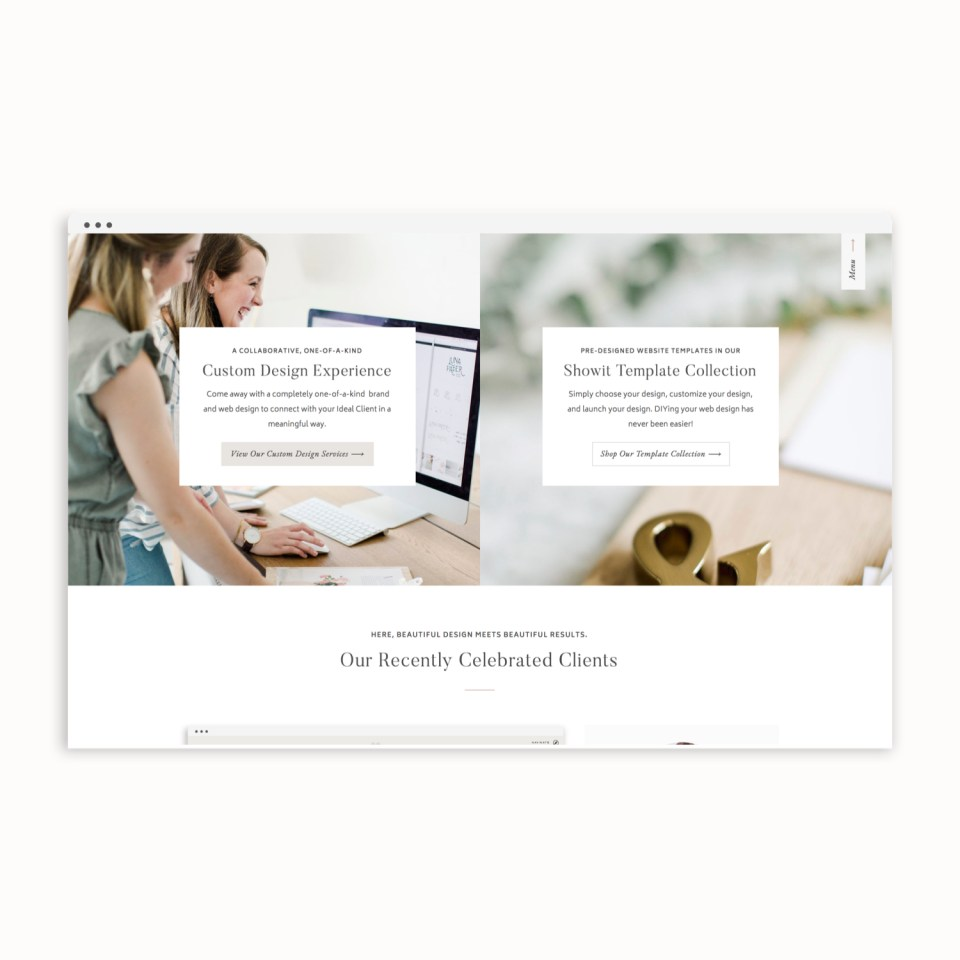 With Grace and Gold - Custom Showit Web Design