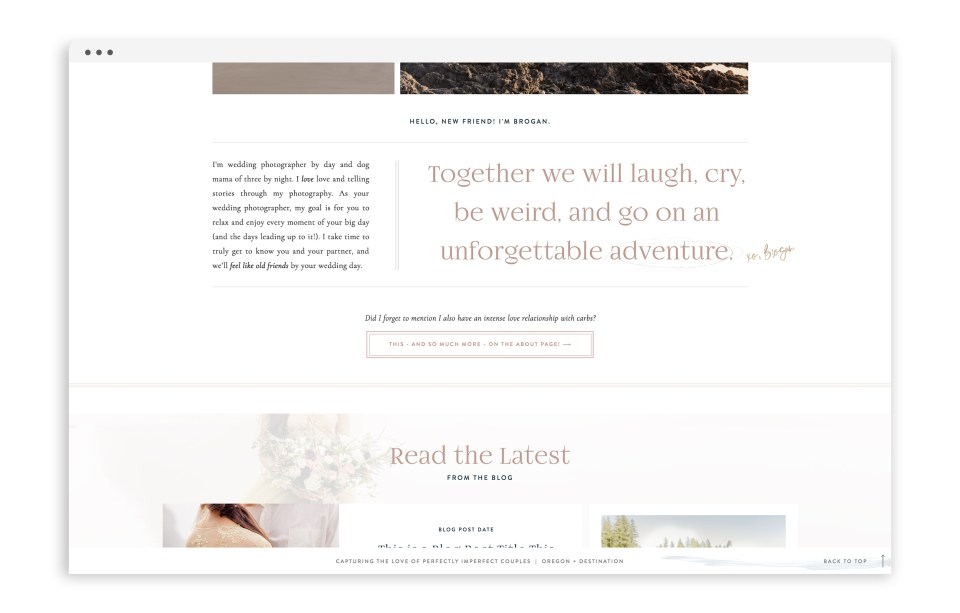 Brogan Marie Photography - With Grace and Gold - Showit Template, Showit Templates, Showit Theme, Showit Themes, Showit Design, Showit Designs, Showit Designer, Showit Designers - Photo - 5
