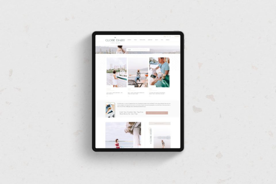 The Globe Diary - Custom Brand and Showit Web Design by With Grace and Gold - Showit Theme, Showit Themes, Showit Template, Showit Templates, Showit Design, Showit Designer - 6