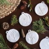 Clay Nature Print Ornaments