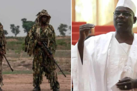 boko haram group asks senate to strip ndume of army committee chair over attempt to sow terror in the heart of citizens 450x300 - NASS will adjust defence budget to meet security challenges – Sen. Ndume