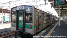 03Jul15 001 Ichinoseki Station JR East Tohoku Main Line 701-1500 Series EMU Train