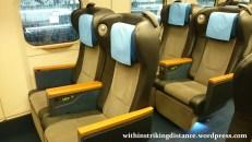 03Jul15 003 Ichinoseki Tokyo JR East Tohoku Shinkansen Hayabusa 104 E6 Series Train Green Car