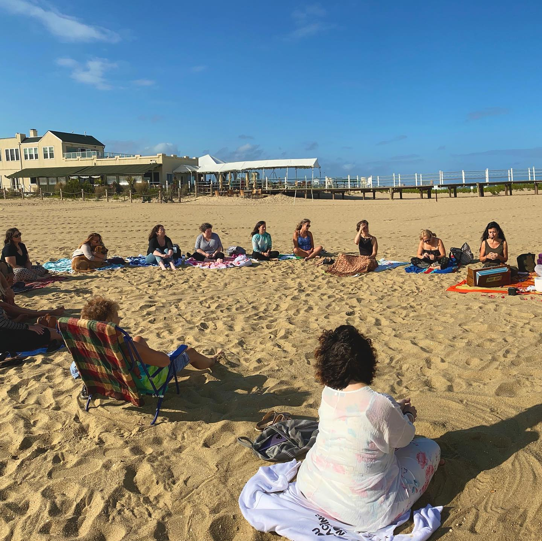 Kirtan with From the Heart on Belmar Beach