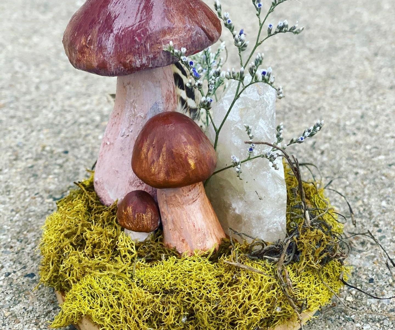 Mushroom Crystal Fairy Garden