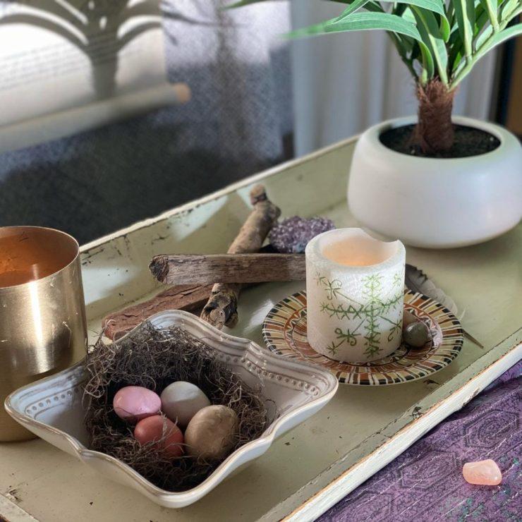 Spring Equinox Altar for our ceremony
