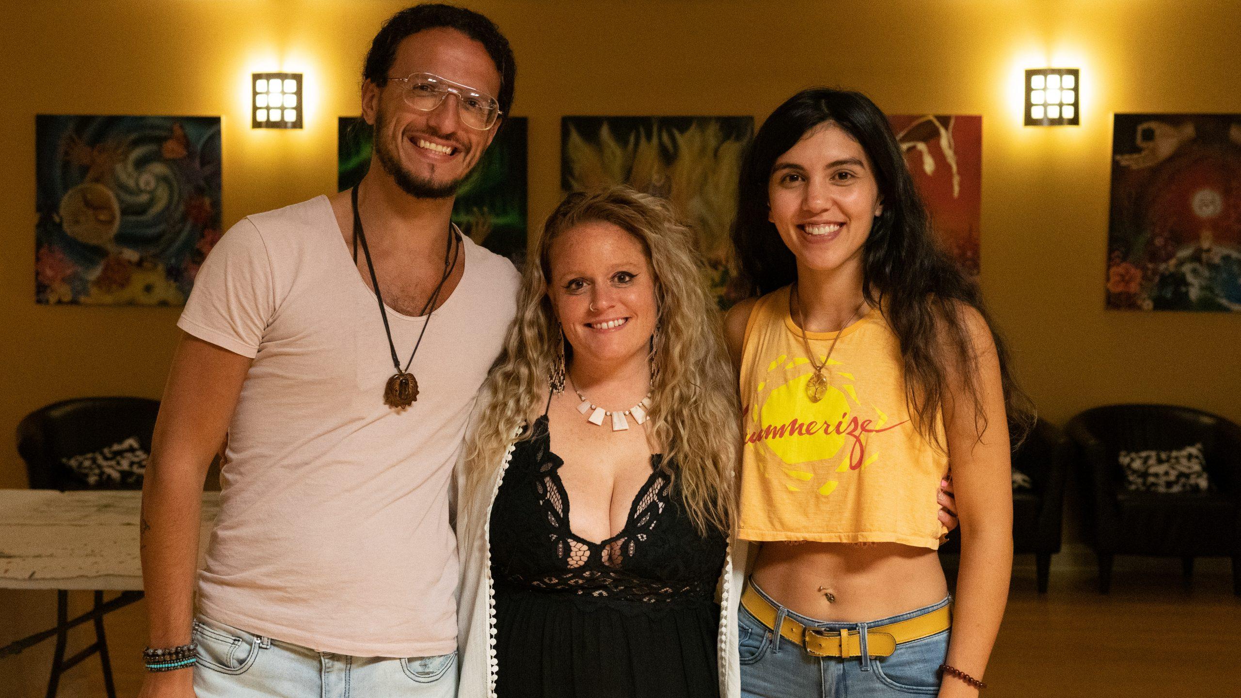 Artist Nikki Daviau with co-founders, Jonathan and Regina