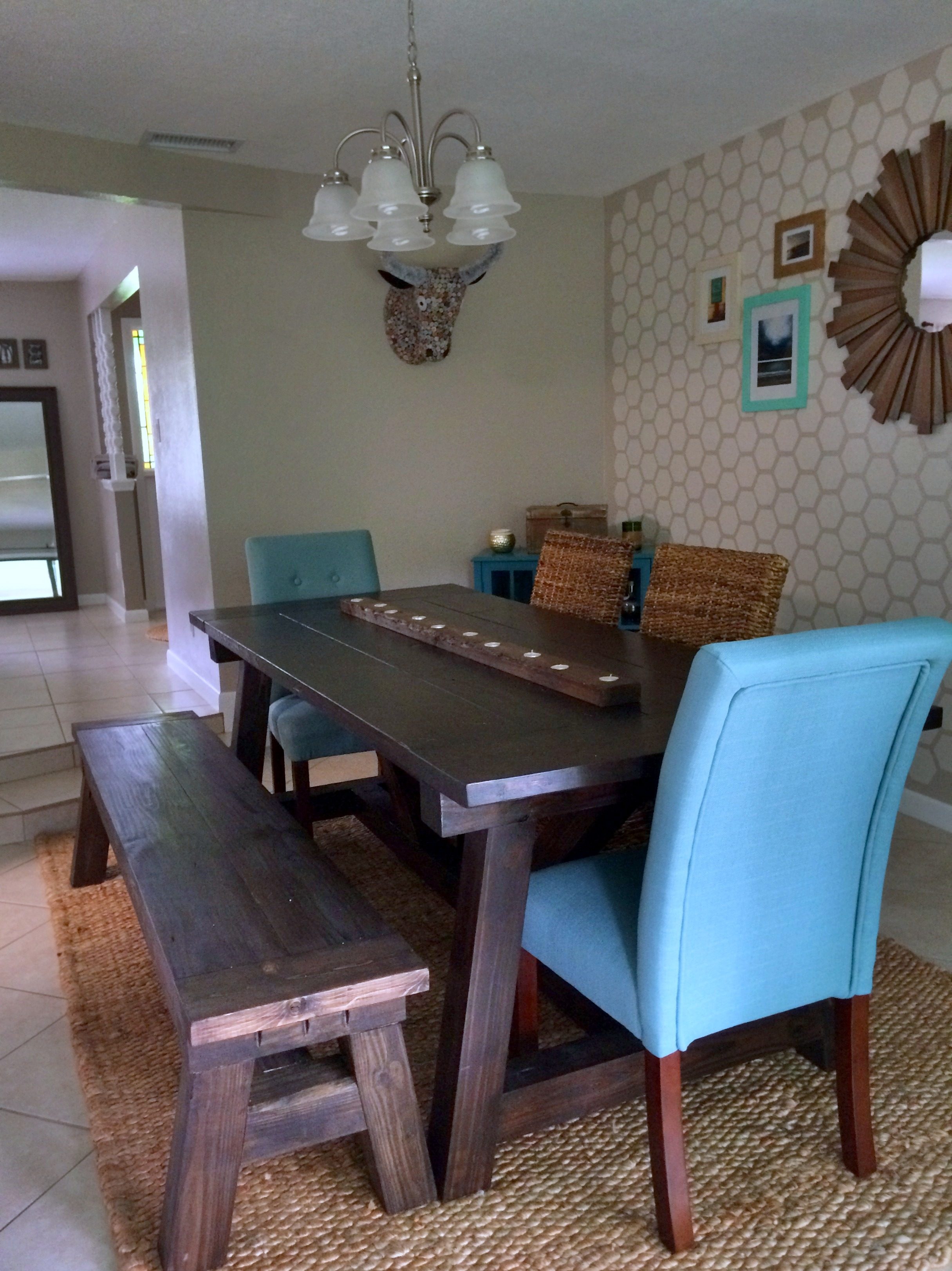 Believe it or not it took me about 6 months to finally settle on a rug and the type of chairs to accompany our farmhouse table. I had a vision one day ... & Home Project // Dining Room Makeover - Within the Grove