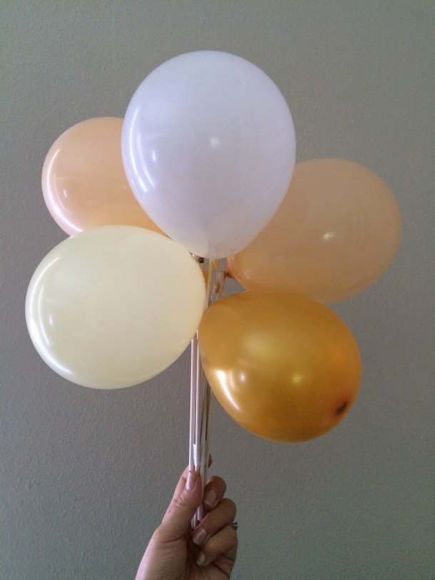 Mini balloons for a party by the Flair Exchange