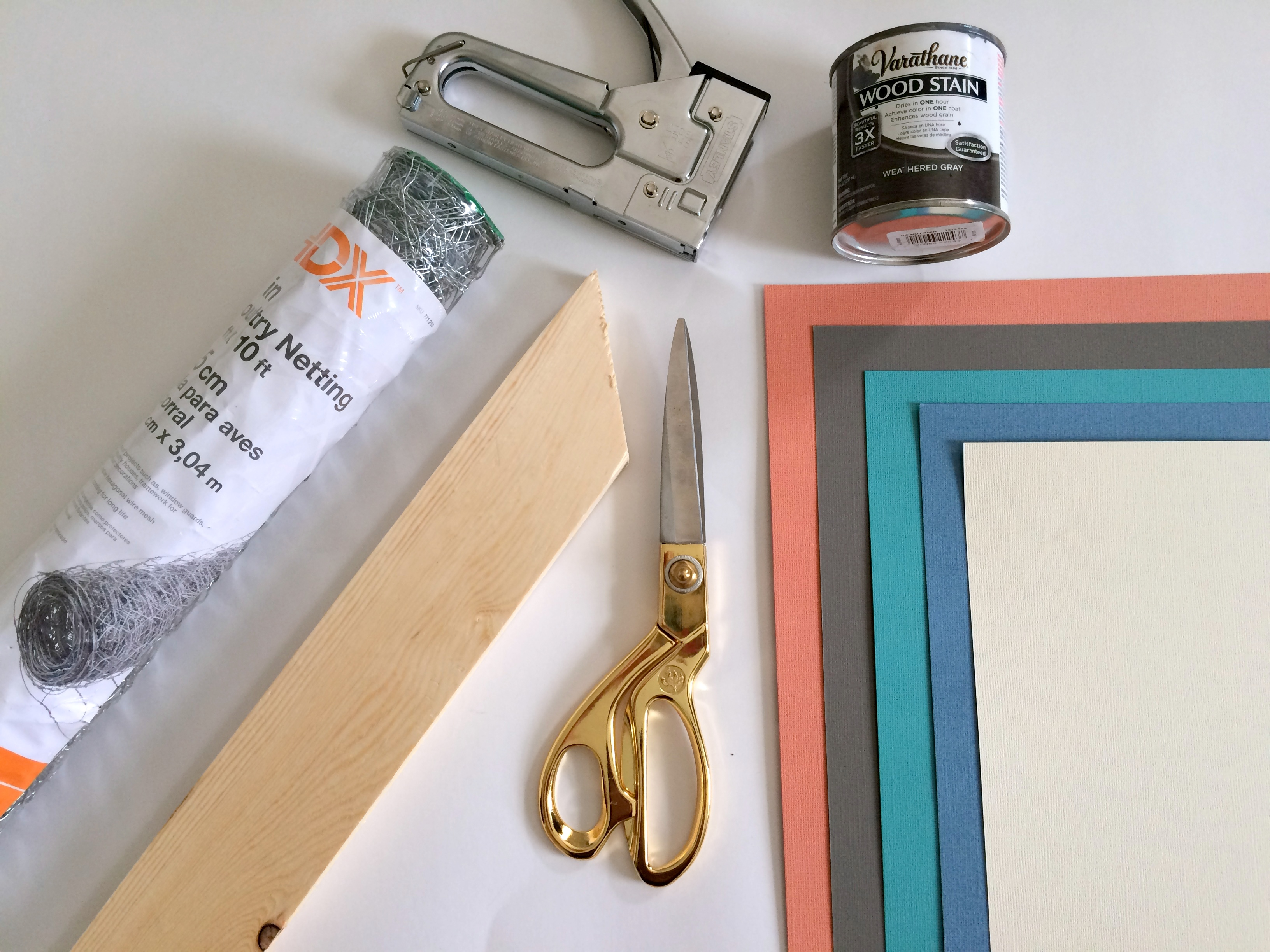 Materials for DIY wall art for your home