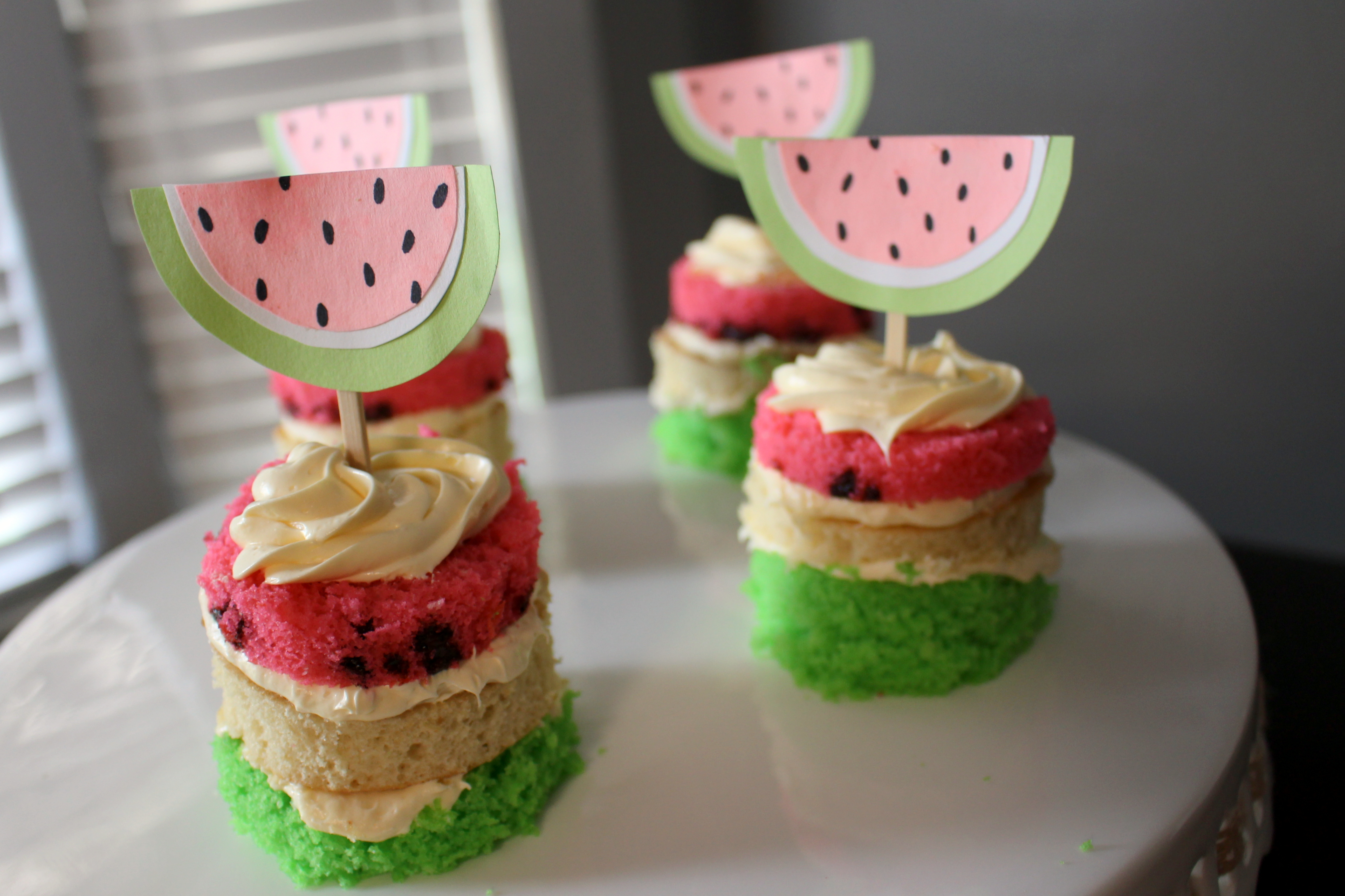 DIY // Watermelon Cupcakes - Within the Grove