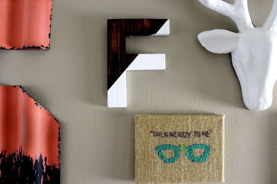 DIY Painted Color Block Letters