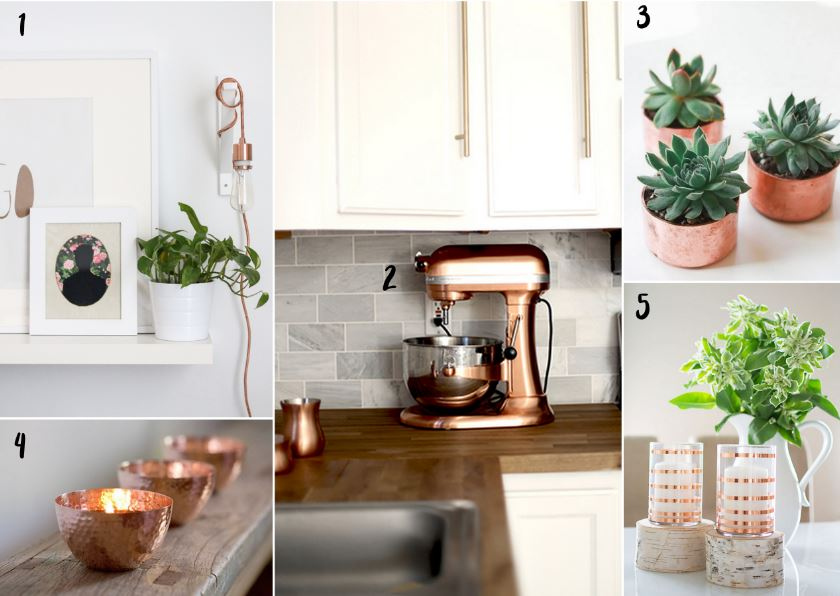 Falling for Copper for home decor