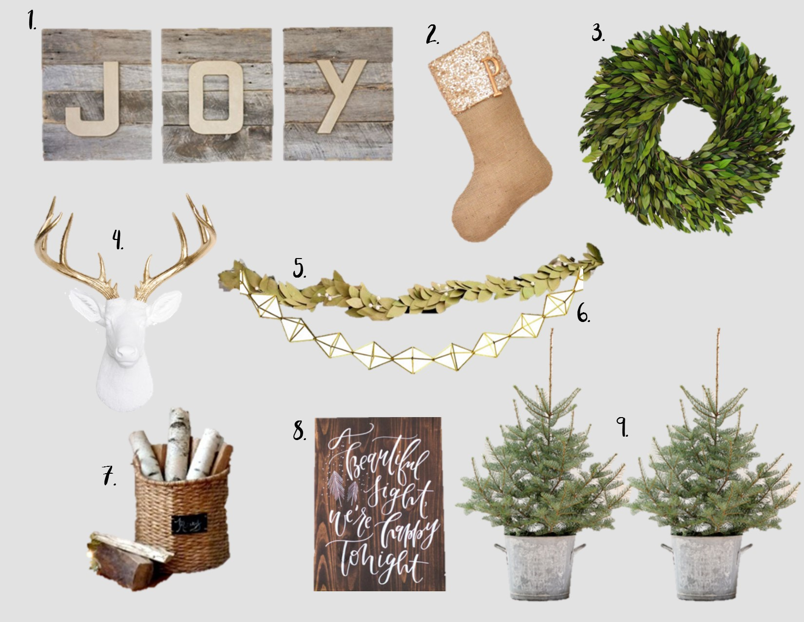 Creating a neutral Christmas Mantel