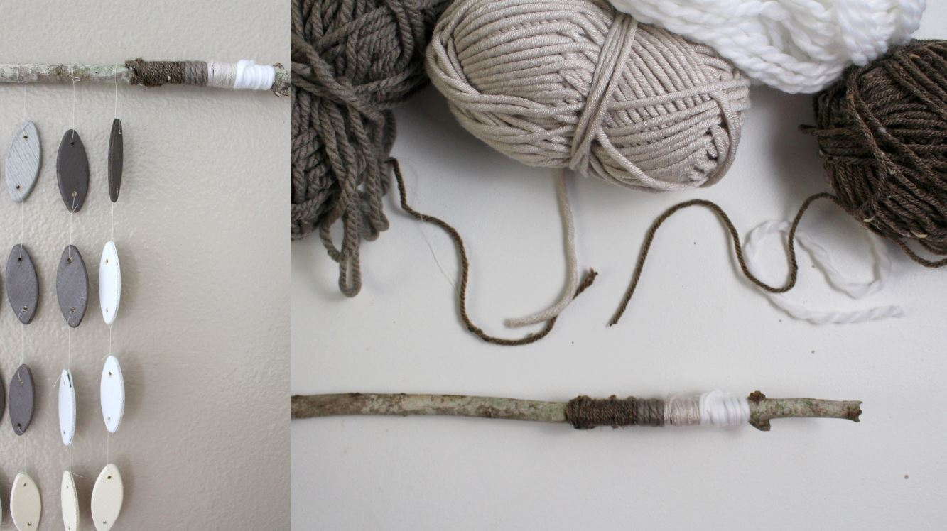 Using yarn for a wall hanging