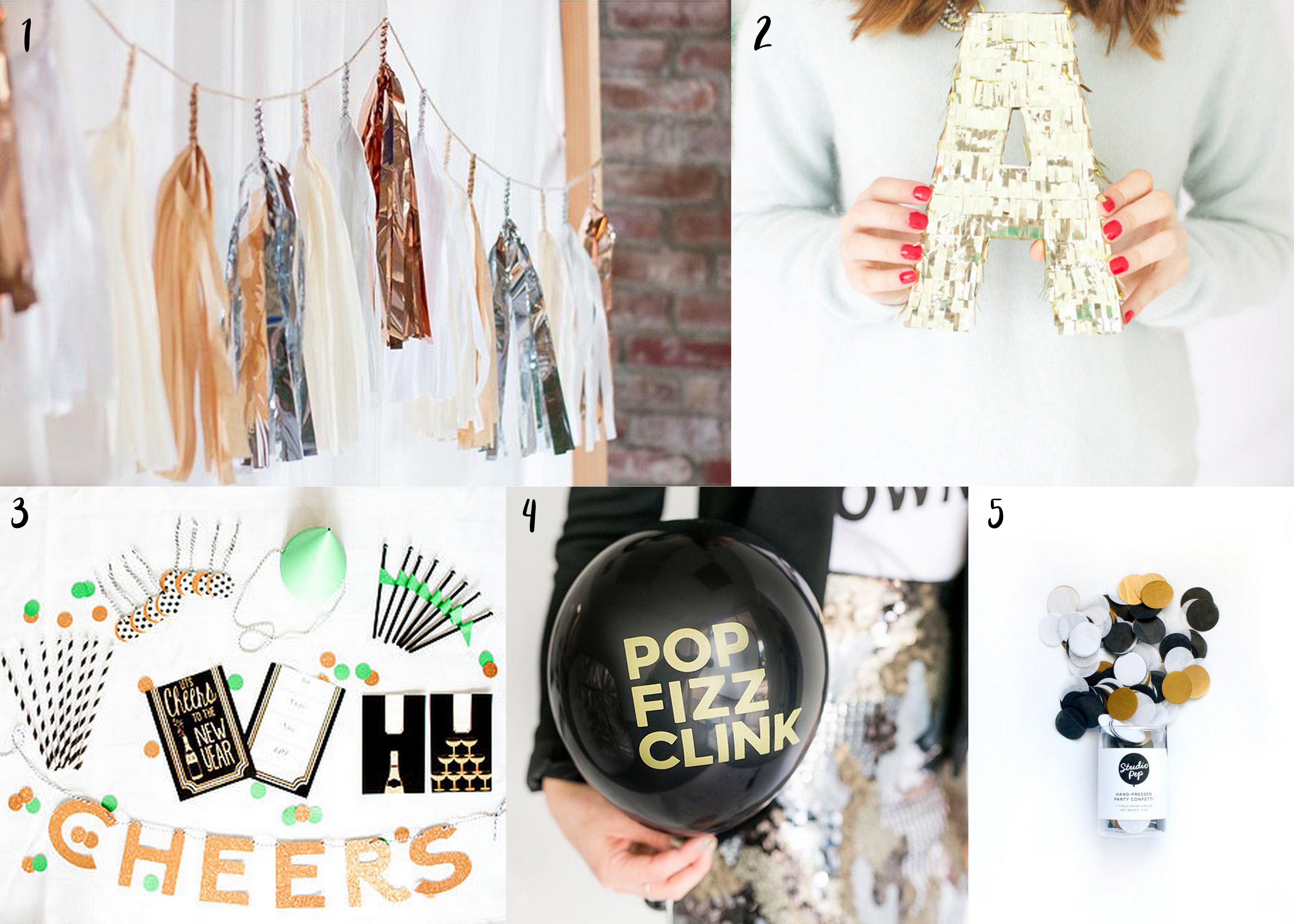 Party supplies to throw the perfect New Year's Eve Party
