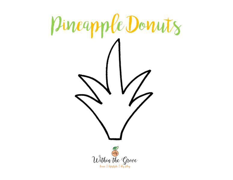 image about Pineapple Template Printable identified as Do it yourself Pineapple Donuts