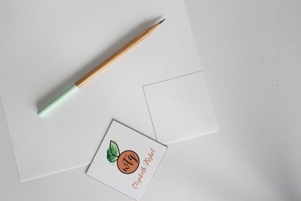 Trace and cut out your place cards using white card stock.