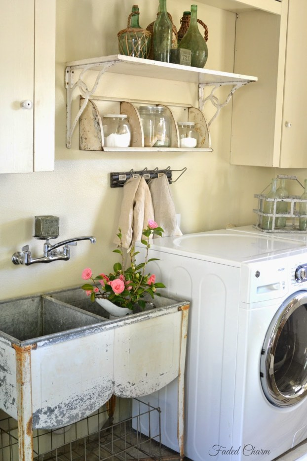 Faded Charm Cottage Laundry Room