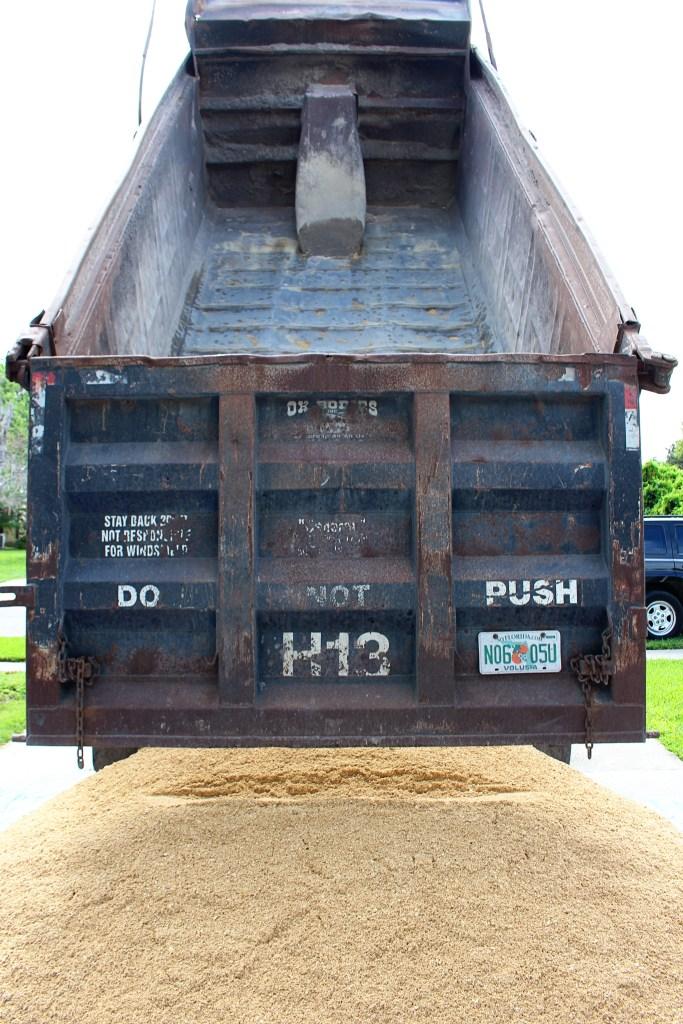 Pebble Junction delivering sand