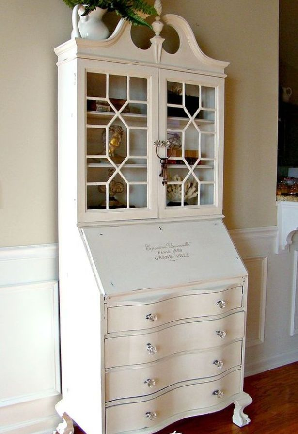 Coastal secretary desk by Adventures in Decorating