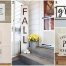 Fall Home Decor for a farmhouse or classic style.