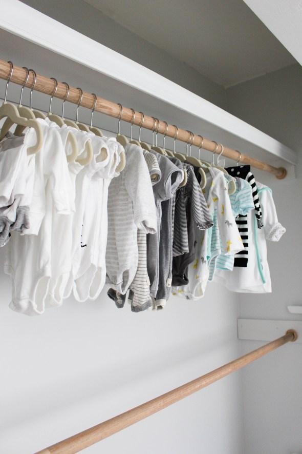 Building your own nursery closet.