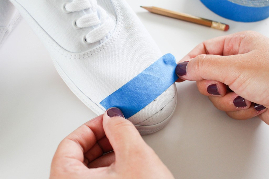 Place a piece of painters tape along your measurements.