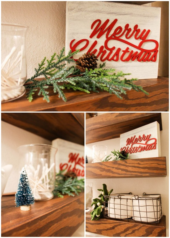 Christmas decor for your bathroom  - Within the Grove
