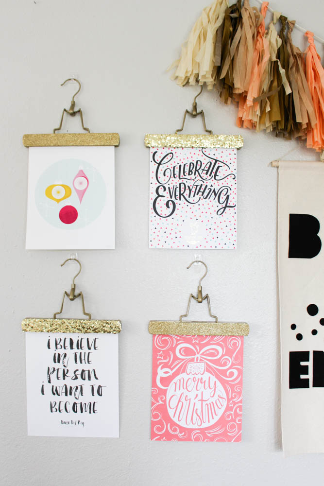 Glitter picture hangers for your office - Within the Grove
