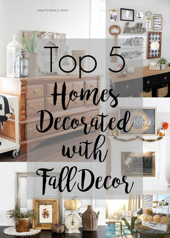 Top 5 Homes Decorated with Fall Decor