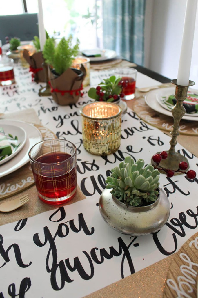 Modern and Traditional Holiday Table 2016