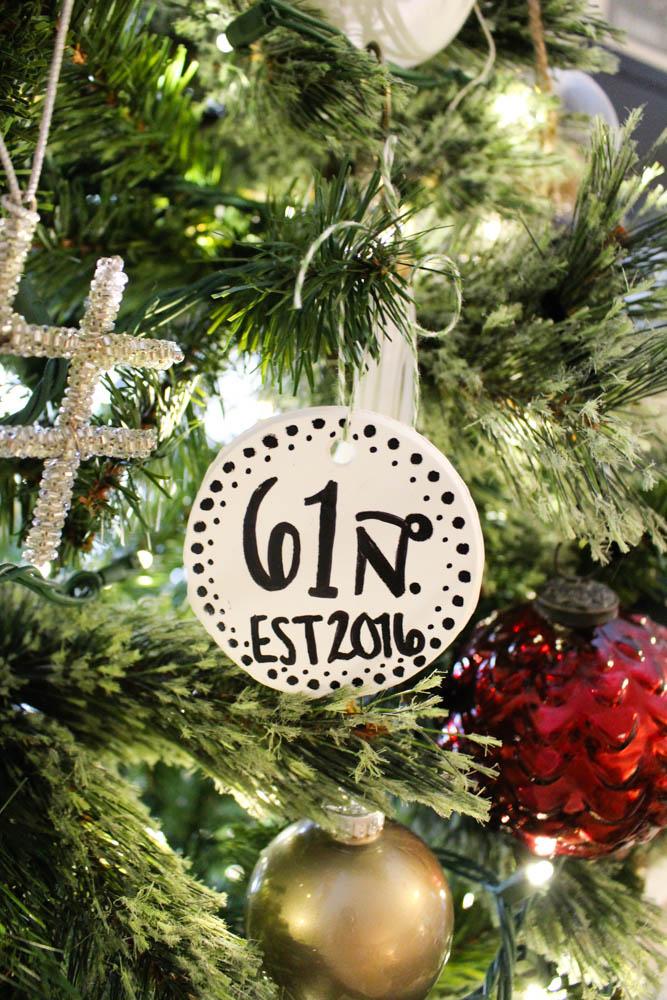 House address ornament